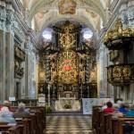 Blick zum Hochaltar der barocken Wallfahrtskirche Frauenberg mit der Madonna vom Frauenberg im Zentrum (© Herr Mag. Bernhard Wagner).