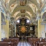 Blick durch den gesamten Kirchenraum zum Hochaltar hin (© Herr Mag. Bernhard Wagner).