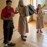 ... gespielt auf der Klarinette, der Ziehharmonika und dem Tenorhorn (© Herr Mag. Bernhard Wagner).
