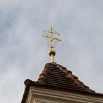 Vergoldetes Turmkreuz (© Herr Mag. Bernhard Wagner).