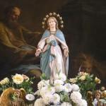 Statue der Gottesmutter am Hochaltar (© Herr Mag. Bernhard Wagner).