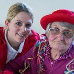 Frau Koschier und ihre Betreuerin vom Roten Kreuz Wolfsberg an diesem Nachmittag (© Herr Mag. Bernhard Wagner).