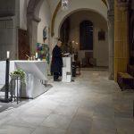 Die Psalmen werden sodann von Herrn Gottfried Spielhofer, der auch am E-Piano spielt, gesungen (© Herr Mag. Bernhard Wagner).