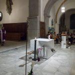 Bischofsvikar Pater Antonio Sagardoy OCD zelebriert gemeinsam mit Diakon Schönhart den Gottesdienst (© Herr Mag. Bernhard Wagner).