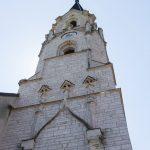 Der markante, weithin sichtbare Kirchturm von Maria Buch (© Herr Mag. Bernhard Wagner).