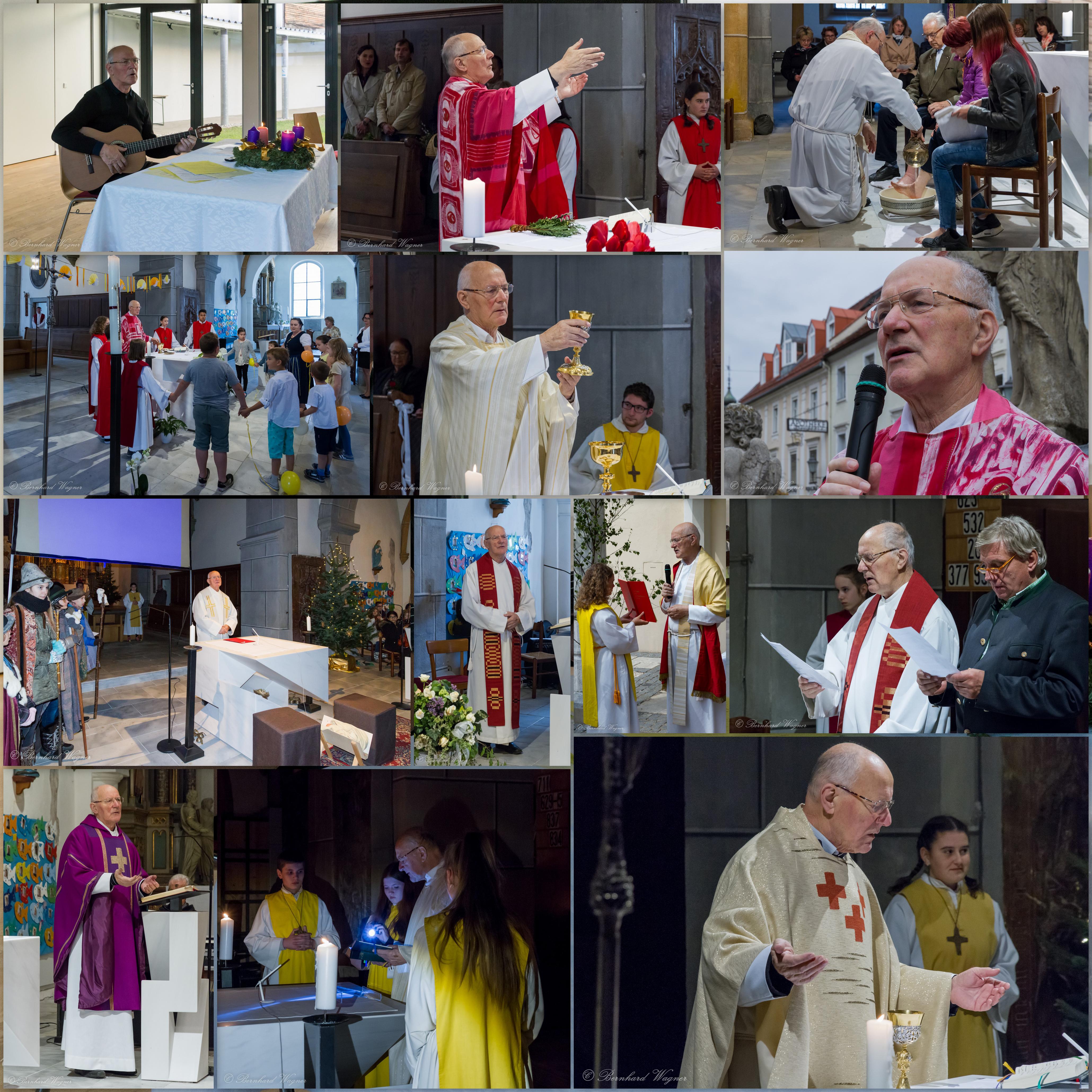 Collage mit Bildern von Ereignissen des Arbeitsjahres 2016/2017 in Wolfsberg (© Herr Mag. Bernhard Wagner).