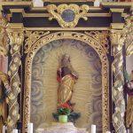 ... sowie Mittelteil mit einer Statue des Hl. Joachim über dem Tabernakel (© Herr Mag. Bernhard Wagner).