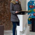 Frau Mag. Barbara Schranz bei der Lesung (© Herr Mag. Bernhard Wagner).