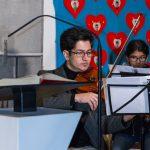 Violinist des Streichorchesters (© Herr Mag. Bernhard Wagner).