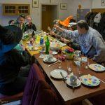 ... wird in den Räumlichkeiten des Pfarrhofs gefrühstückt ... (© Herr Mag. Bernhard Wagner)