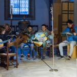 Die Sing- und Spielgruppe um Frau Eva-Maria Kölbl-Perner (ganz links) hat sich wieder für die musikalische Gestaltung des Abends der Barmherzigkeit eingefunden (© Herr Mag. Bernhard Wagner).