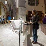 Frau Mag. Barbara Schranz beim Vortrag der 1. Lesung (© Herr Mag. Bernhard Wagner).