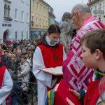 ... und schließlich die Verkündigung des Evangeliums vom Einzug Jesu in Jerusalem, ... (© Herr Mag. Bernhard Wagner)