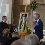 ... im Gespräch mit Bischofsvikar Pater Dr. Gerfried Sitar OSB (© Herr Mag. Bernhard Wagner).