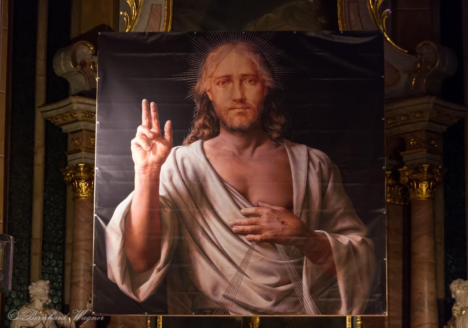 """""""Barmherziger Jesus"""" von Michael Triegel (© Herr Mag. Bernhard Wagner)."""