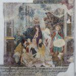 Fresko, es zeigt die Kreuzabnahme und anschließende Beweinung Jesu (© Herr Mag. Bernhard Wagner).