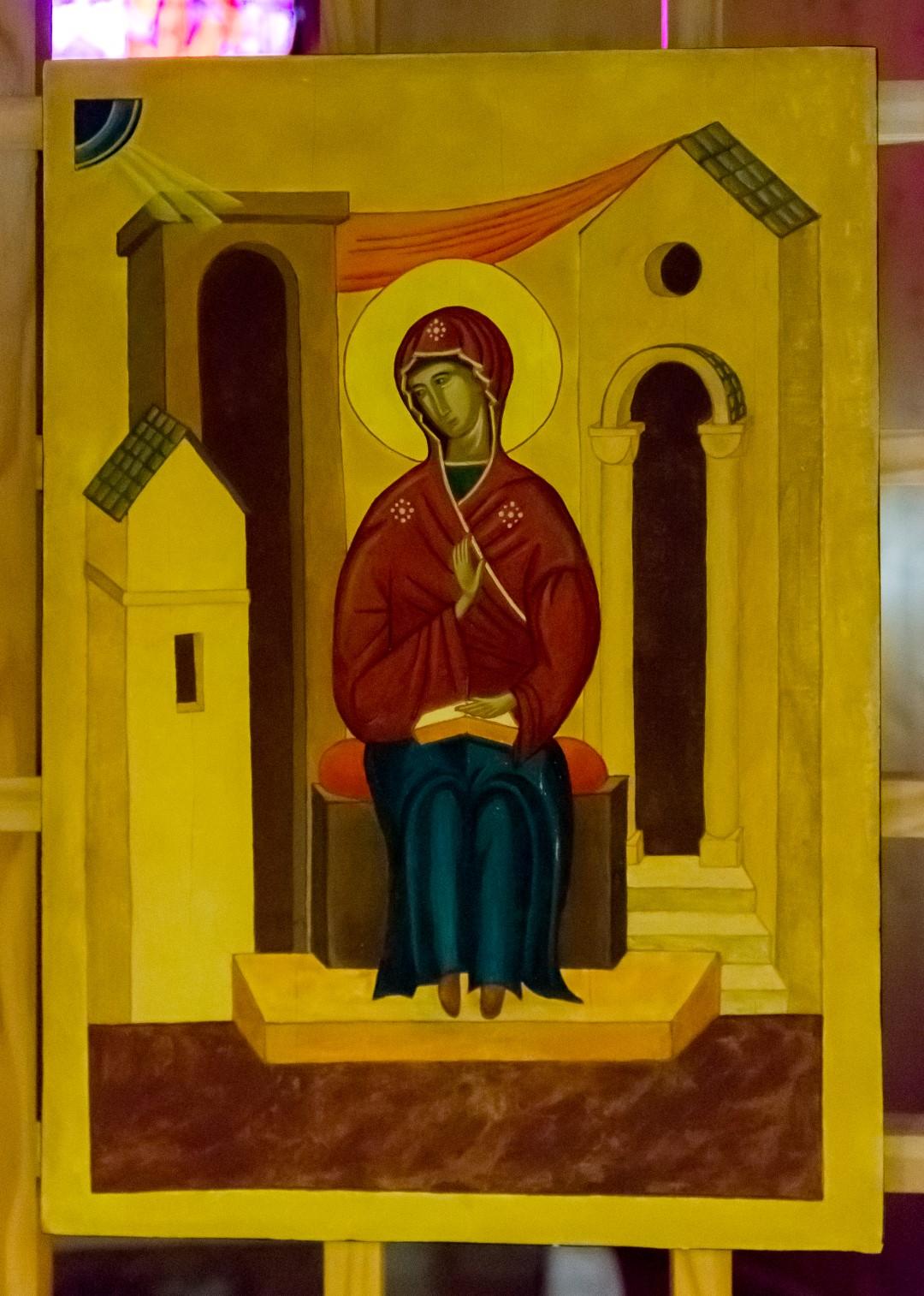 """Ikone """"Mariä Verkündigung"""" in der Orthodoxen Kapelle der Versöhnungskirche in Taizé (© Herr Mag. Bernhard Wagner)"""
