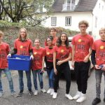 ...  die Gruppe in der Bindergasse neben  dem Markussaal (© Katholische Jugend Lavanttal).