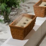 Schüsseln mit Sand und Weihrauchkohlen. Alle waren eingeladen ein Weihrauchkorn auf eine der Kohlen zu legen (© Herr Mag. Bernhard Wagner).
