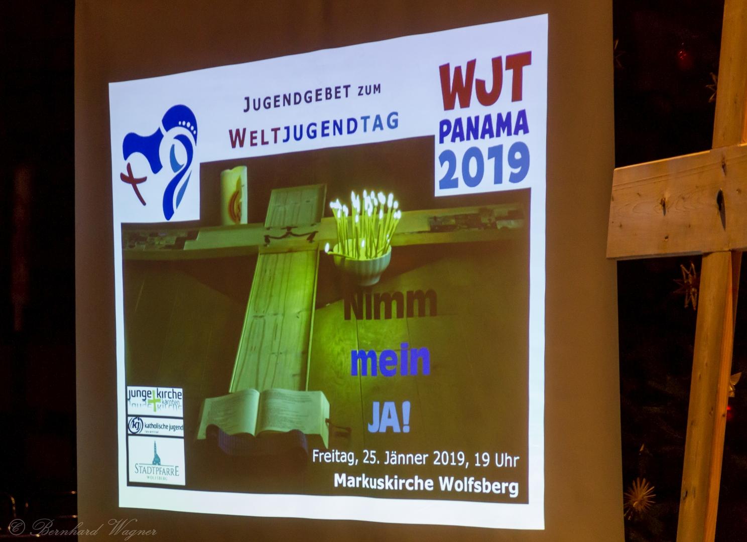 Titelseite der Präsentation zum Jugendgebet (© Herr Mag. Bernhard Wagner).