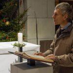 Pfarrer Mag. Eugen Länger verkündet das Evangelium (© Herr Mag. Bernhard Wagner).
