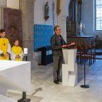 Gesang vor dem Evangelium, Kantor ist Herr Dr. Alfred Kienleitner (© Herr Mag. Bernhard Wagner).