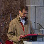Pfarrgemeinderatsobmann Herr Klaus Penz bei der zweiten Lesung (© Herr Mag. Bernhard Wagner).