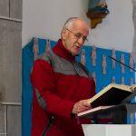 Herr Ried liest die erste Lesung (© Herr Mag. Bernhard Wagner).