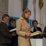 Frau Mag. Barbara Schranz liest die Lesung ... (© Herr Mag. Bernhard Wagner)