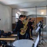 Trompeter, Hornisten und Paukist im südlichen Seitenchor (© Herr Mag. Bernhard Wagner).