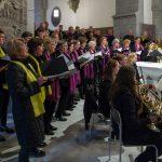 Singkreis Wolfsberg (violett), Chor der Stiftskirche St. Paul (gelb), Sängerquartett und Orchester (© Herr Mag. Bernhard Wagner).
