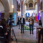 Frau Lucija Oitzl und Herr Thomas Gaber kündigen den dritten Teil, Impulse des Tages, an (© Herr Mag. Bernhard Wagner).