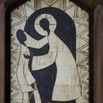 Szene aus einer Bilderfolge zur Bibel am Weg zum See (Heilung eines Aussätzigen; Mt 8, 2-3) (© Herr Mag. Bernhard Wagner).